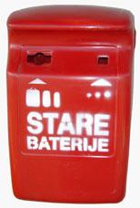Što treba odložiti u crvene spremnike za otpadne baterije